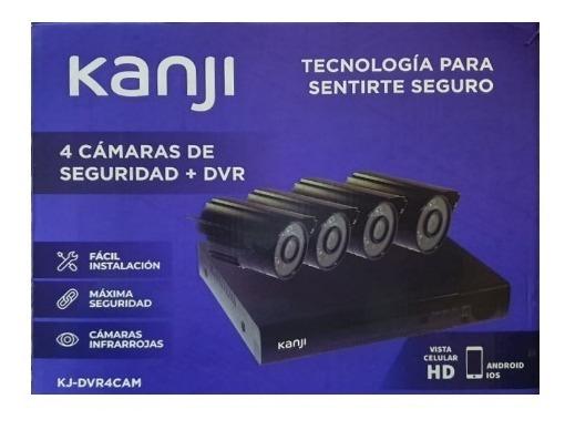 KIT DE VIGILANCIA KANJI DVR CCTV  4 CAMARAS