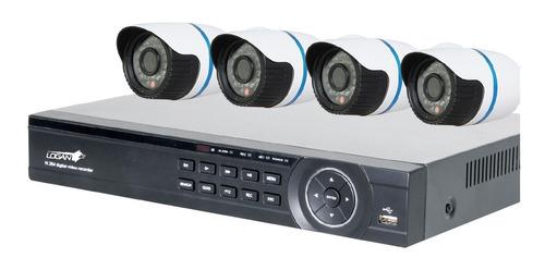 kit seguridad nvr 4 canales 4 camaras ip 1080p hd puerto poe