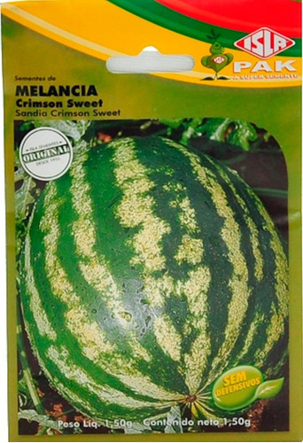 kit sementes 2 tipos de melancia crimson sweet e fair fax