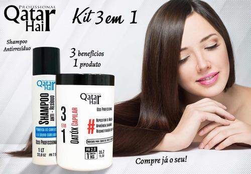 kit semi definitiva organic tróia + botox massa qatox 3x1l