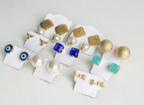 kit semi joias  50 peças atacado para revenda + mostruário