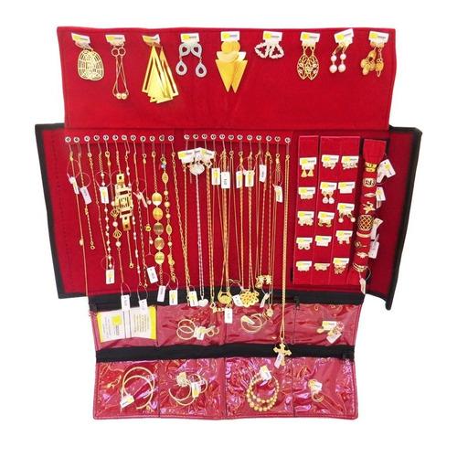 kit semi joias 70 peças + mostruário