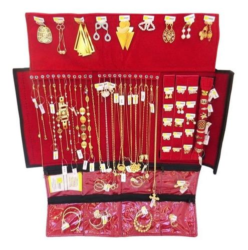 kit semi joias folheados 40 peças revenda atacado