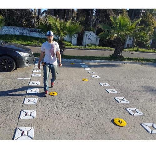kit senda peatonal cuadros - placa