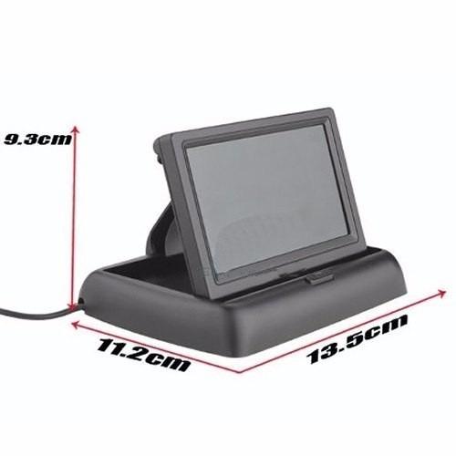 kit sensor de estacionamento c/ câmera de ré + tela lcd 4.3