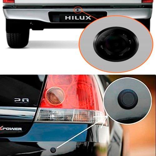 kit sensor de estacionamento + câmera de ré c/ tela lcd 4.3