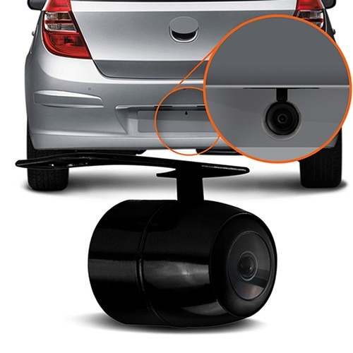 kit sensor de estacionamento + câmera de ré prova d'água