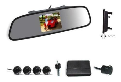 kit sensor de estacionamiento espejo retrovisor y cámara