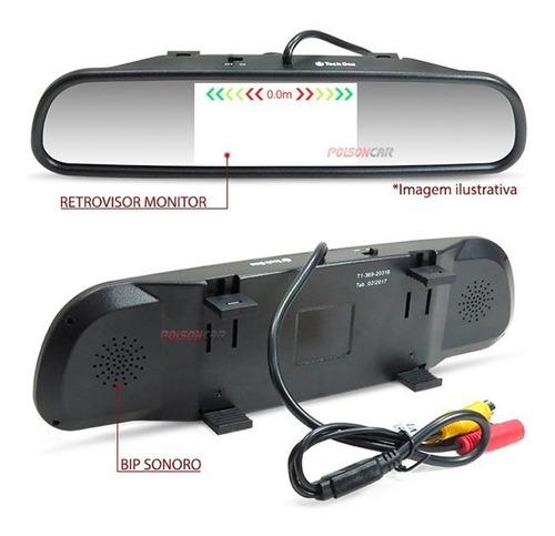 kit sensor estacionamento argo 2018 2019 retrovisor ré 4 pts