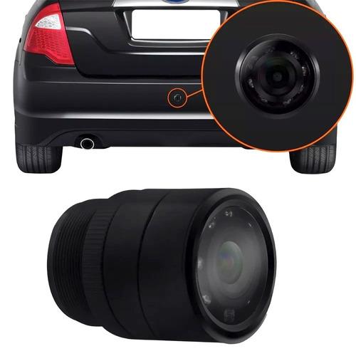 kit sensor estacionamento câmera ré noturna retrovisor lcd