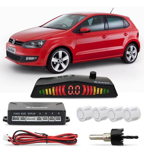 kit sensor estacionamento polo 2006 07 08 09 10 à 2019 ré