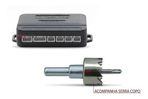 kit sensor estacionamento prisma 2007 a 2018 + retrovisor