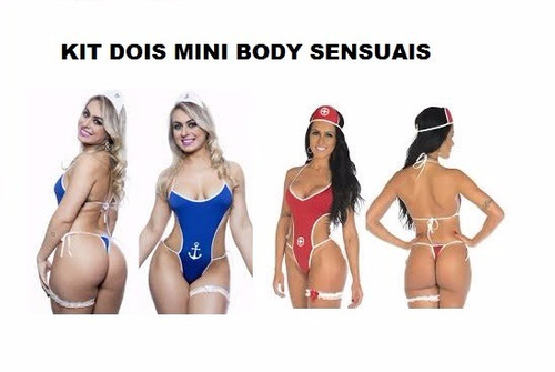 kit sensual mini body sexy salva-vidas + marinheira