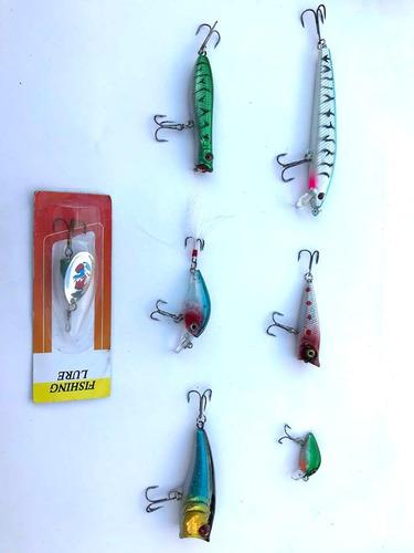 kit señuelos de pesca truchas sábalos ríos lagos