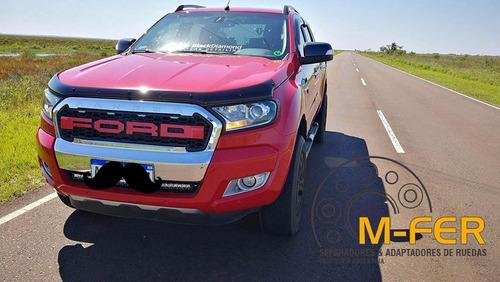 kit separador de llantas ford ranger 35mm 2012+ 6 bulones