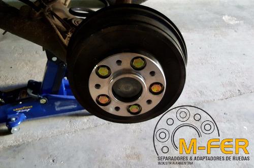 kit separadores de ruedas renault duster oroch koleos 30mm