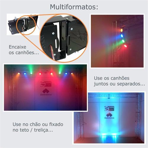 kit sequencial de led multiformas deltrônica 8 canhões rgby