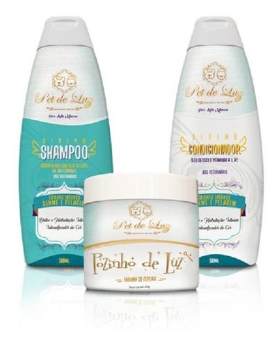 kit serafim - shampoo, condicionador e farinha de cereais