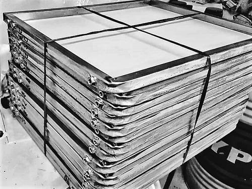 kit serigrafia 5 shablones schablon 40x50 80h seda amarilla