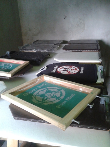 kit serigrafico super completo:mesa portatel-telas acessorio