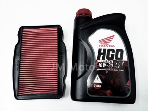 kit service filtro y aceite honda 10w 30 cb 190 r jm motos