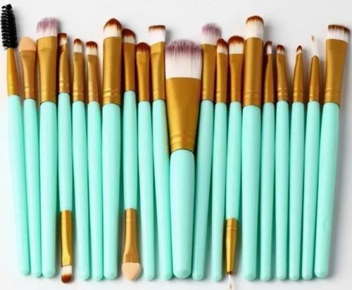 kit set 20 brochas ojos maquillaje profesional envío gratis