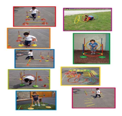 kit set combo psicomotricidad infantil didactico 126 piezas!