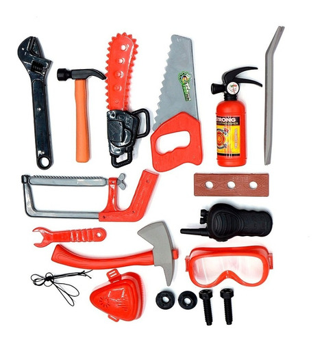 kit set de bombero juego juguete para niño niña mvd sport