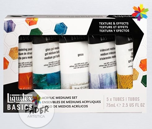 kit set de medium acrílico liquitex pintura barrio norte