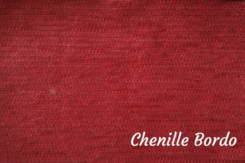 kit set divan chenille funda + 5 almohadones