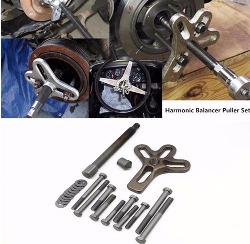 kit set extractor de poleas y damper pata de gallo 12 piezas