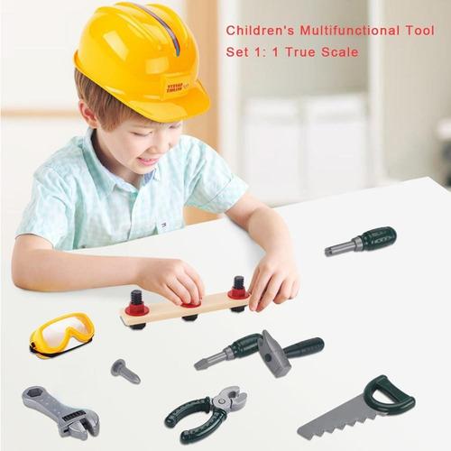 kit set herramientas didácticas con casco juego niños