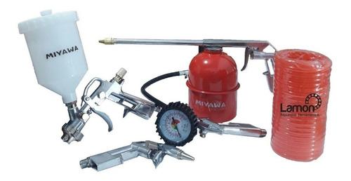 kit set herramientas neumaticas p compresor aire kushiro