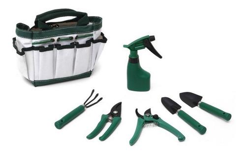 kit set jardineria jardin cactus suculentas 6 herramientas bolso rociador