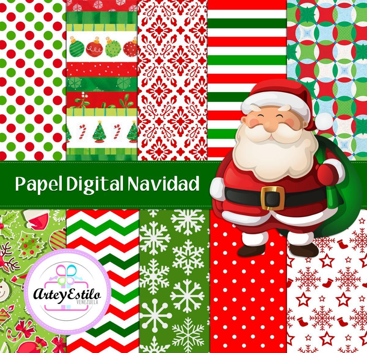 Kit/ Set Papel Digital Navidad Imprimibles Scrapbook - Bs. 1,20 en ...