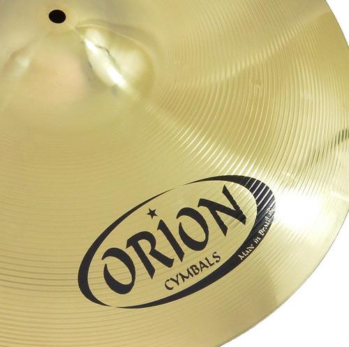 kit set pratos orion twister twr90 14/16/20 bateria c/ bag