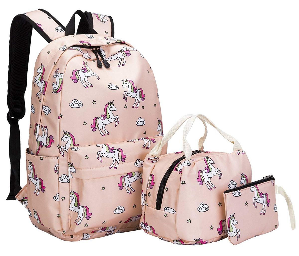 f0bf973c083 Kit Set Unicornio Mochilas Escolares Rosa Primaria Niñas ...