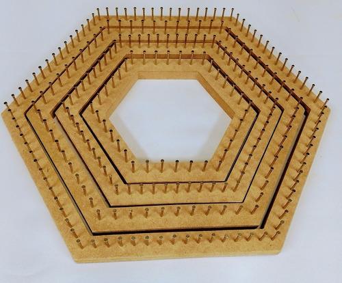 kit sextavado manual tear de prego - 04 teares hexagonais