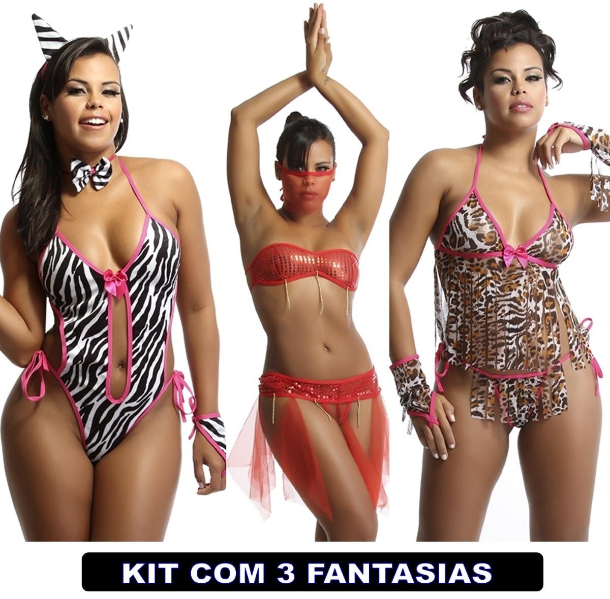 f4a8b97bd kit sexy com 3 unid lingerie sex roupas intimas kits sexys. Carregando zoom.