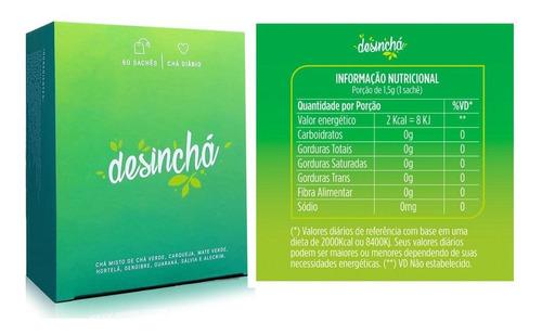 kit shake diet way (midway) + caixa chá desinchá