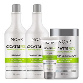 Kit Shampoo Condicionad Máscara E Leave-in Cicatrifios Inoar