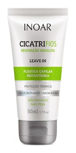 kit shampoo condicionad máscara e leave-in cicatrifios inoar