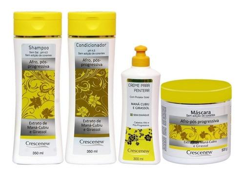 kit shampoo, condicionador, creme e máscara cabelo cacheado