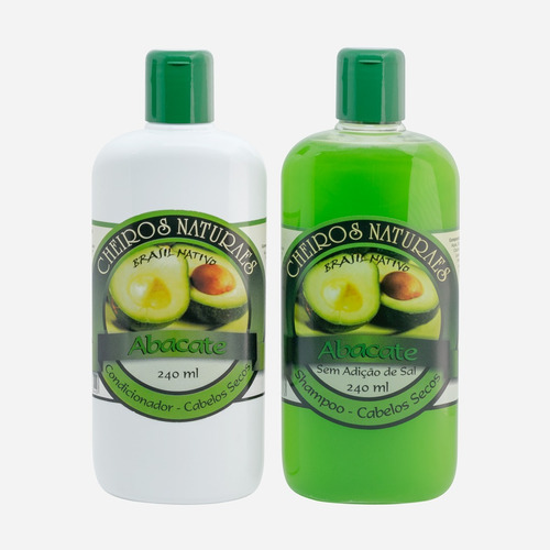 kit shampoo e condicionador abacate 240ml