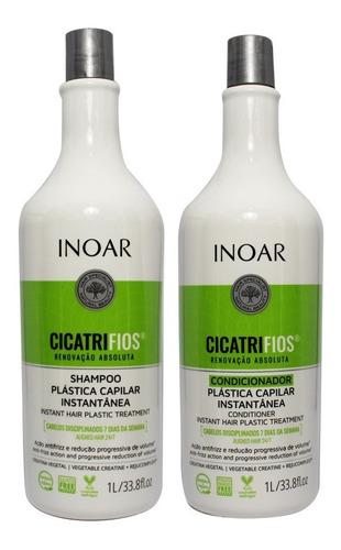 kit shampoo e condicionador cicatrifios 1 litro - inoar
