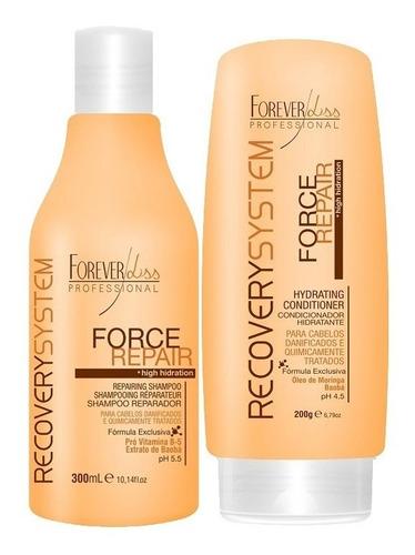 kit shampoo e condicionador force repair - forever liss