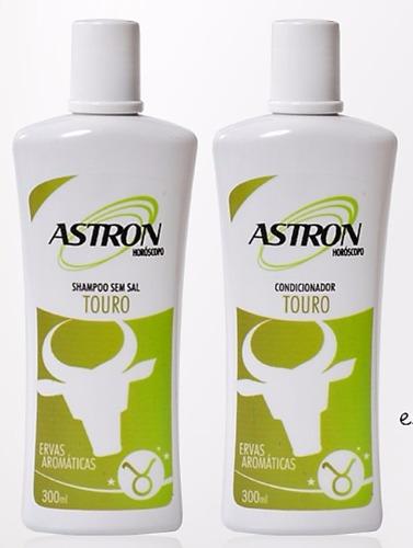 kit shampoo e condicionador touro astron 300 ml