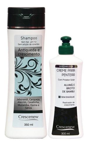 kit shampoo e creme de pentear cabelo anti-queda - jaborandi