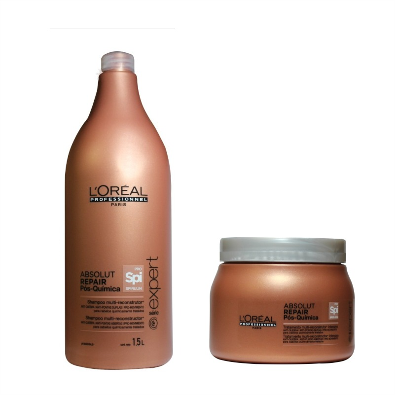b1f765ef7 kit shampoo e máscara loréal absolut repair pós química. Carregando zoom.