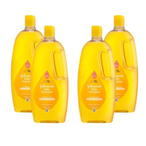 kit shampoo johnsons baby regular 750ml com 4 unidades